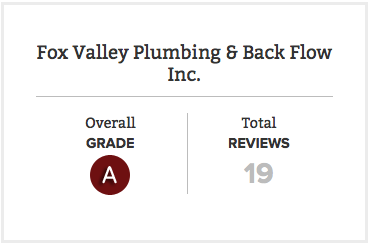 Fox Valley Plumbing Deal of the Month